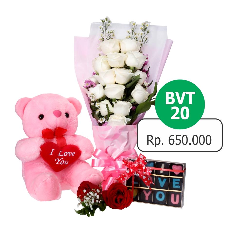 Toko Jual Bunga Hand Bouquet Mawar Valentine