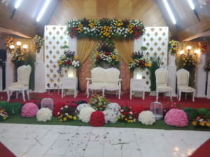 Jual Rangkaian Bunga Dekorasi Pelaminan Untuk Pernikahan
